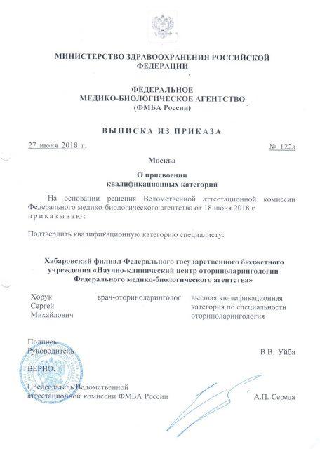 Сертификат Оториноларинголога